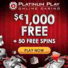 Platinum Play uvítací bonus
